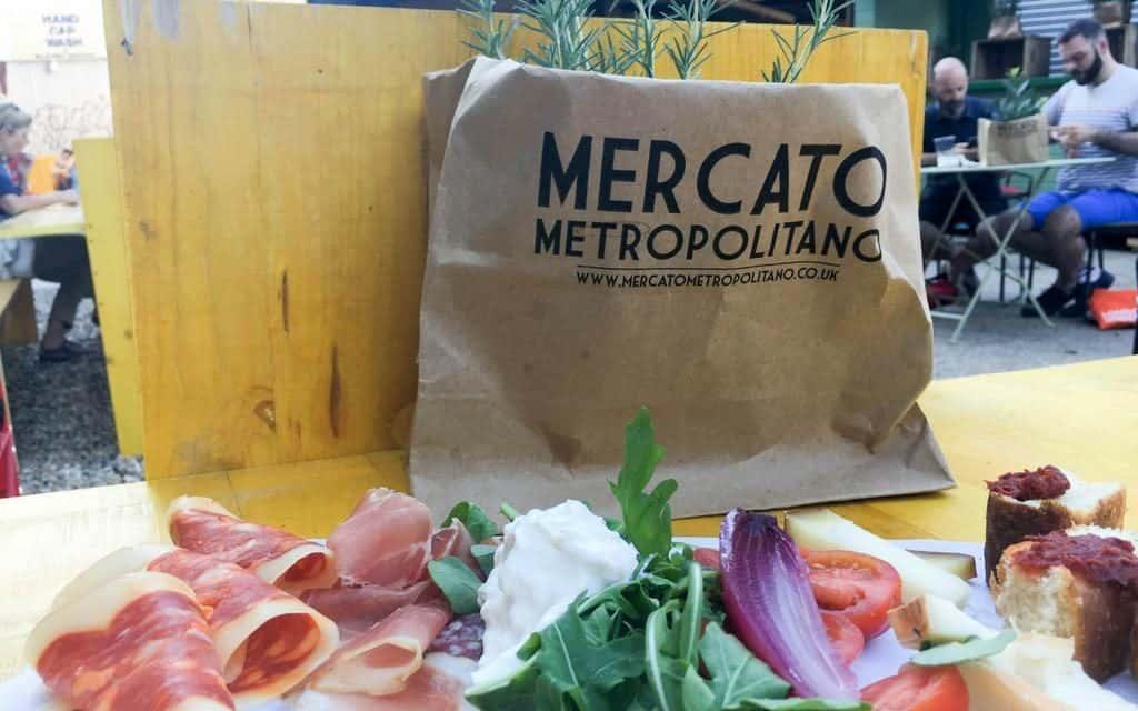 London | UK - delicious antipasto at Mercato Metrolpolitano