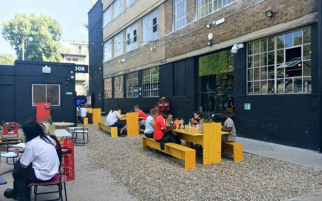 London | UK - exterior of Mercato Metropolitano