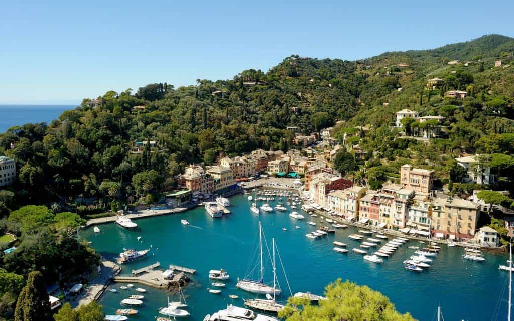 portofino view italian riviera