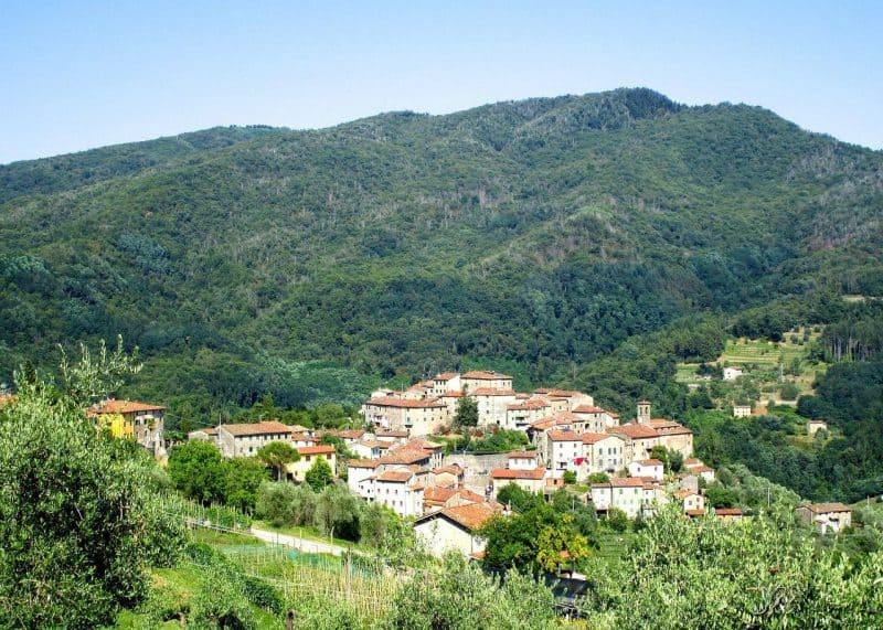 Tuscany Italy - hills near Lucca