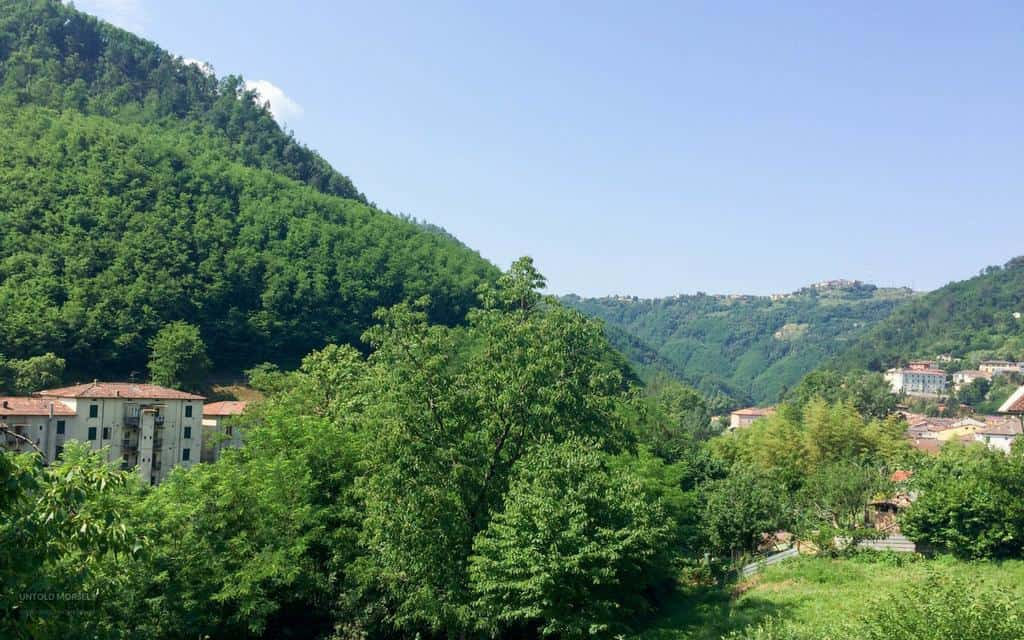 View from our Tuscany villa in Bagni di Lucca