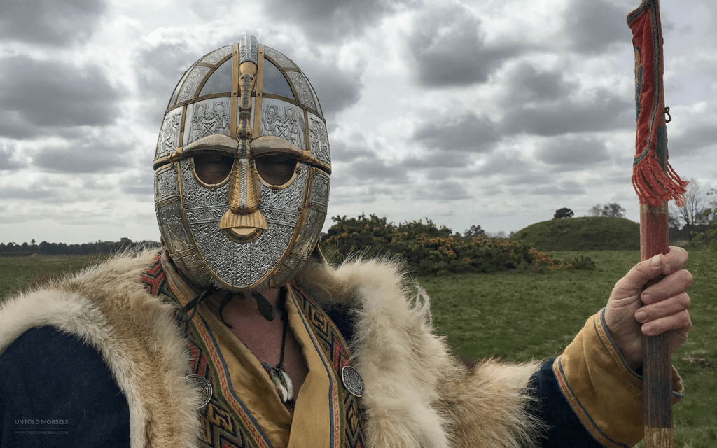 Who was the king buried at Sutton Hoo