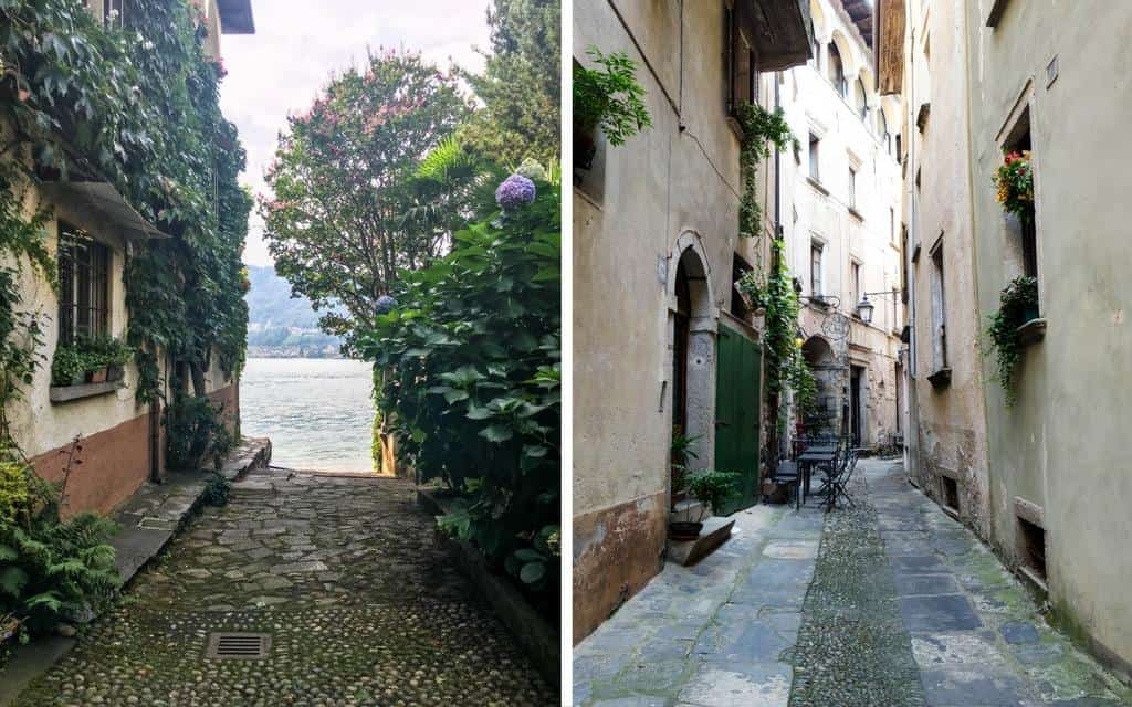 romantic streets of Lake Orta