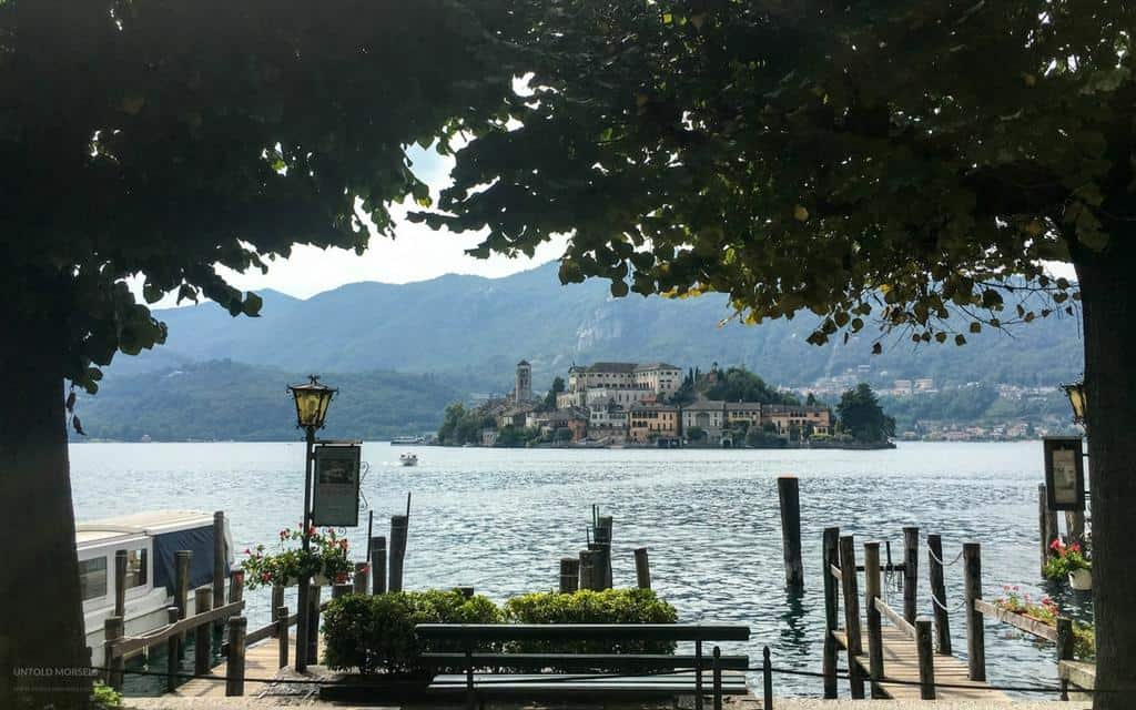 View of Isola San Giulio from Orta San Giulio