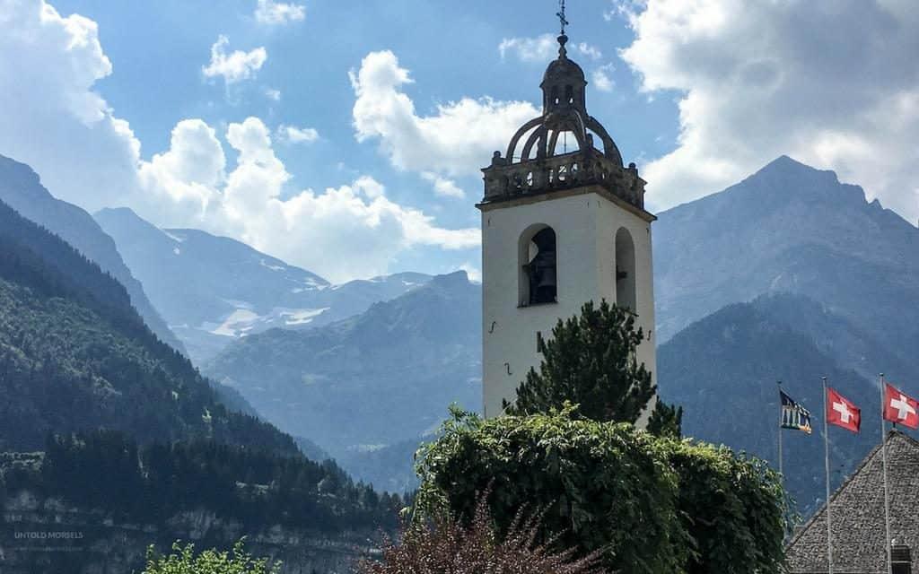 champery church clock tower