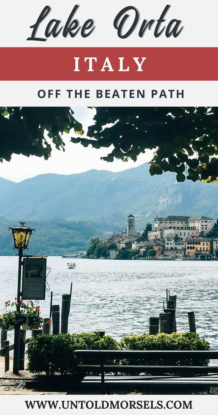 Lake Orta | Italy - the most beautiful Italian lake is an easy day trip from Milan or Lake Maggiore. Discover the magical island and pretty town of Orta San Giulio. Things to do Lake Orta. Italy off the beaten path