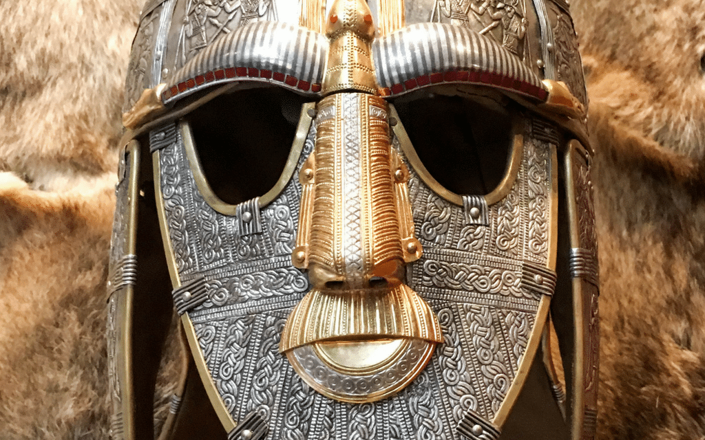 Replica of Sutton Hoo helmet