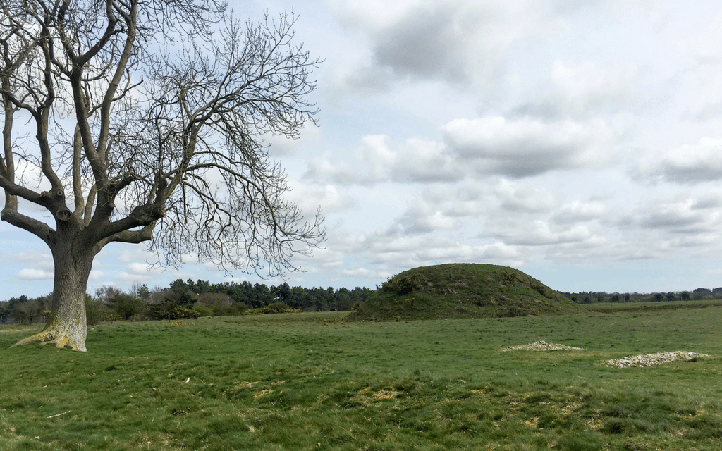 Sutton Hoo the site of Anglo-Saxon burial mounds