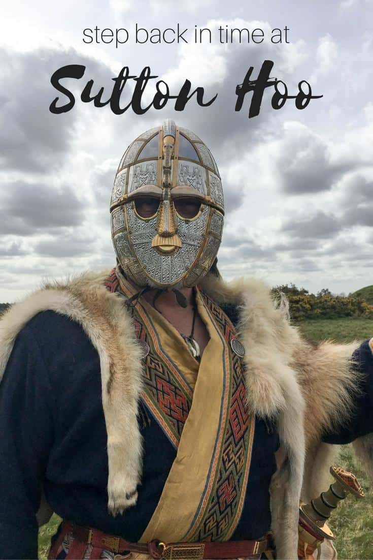 Sutton Hoo - archaeological site where an Anglo Saxon king was found buried in a funeral ship. Sutton Hoo Helmet