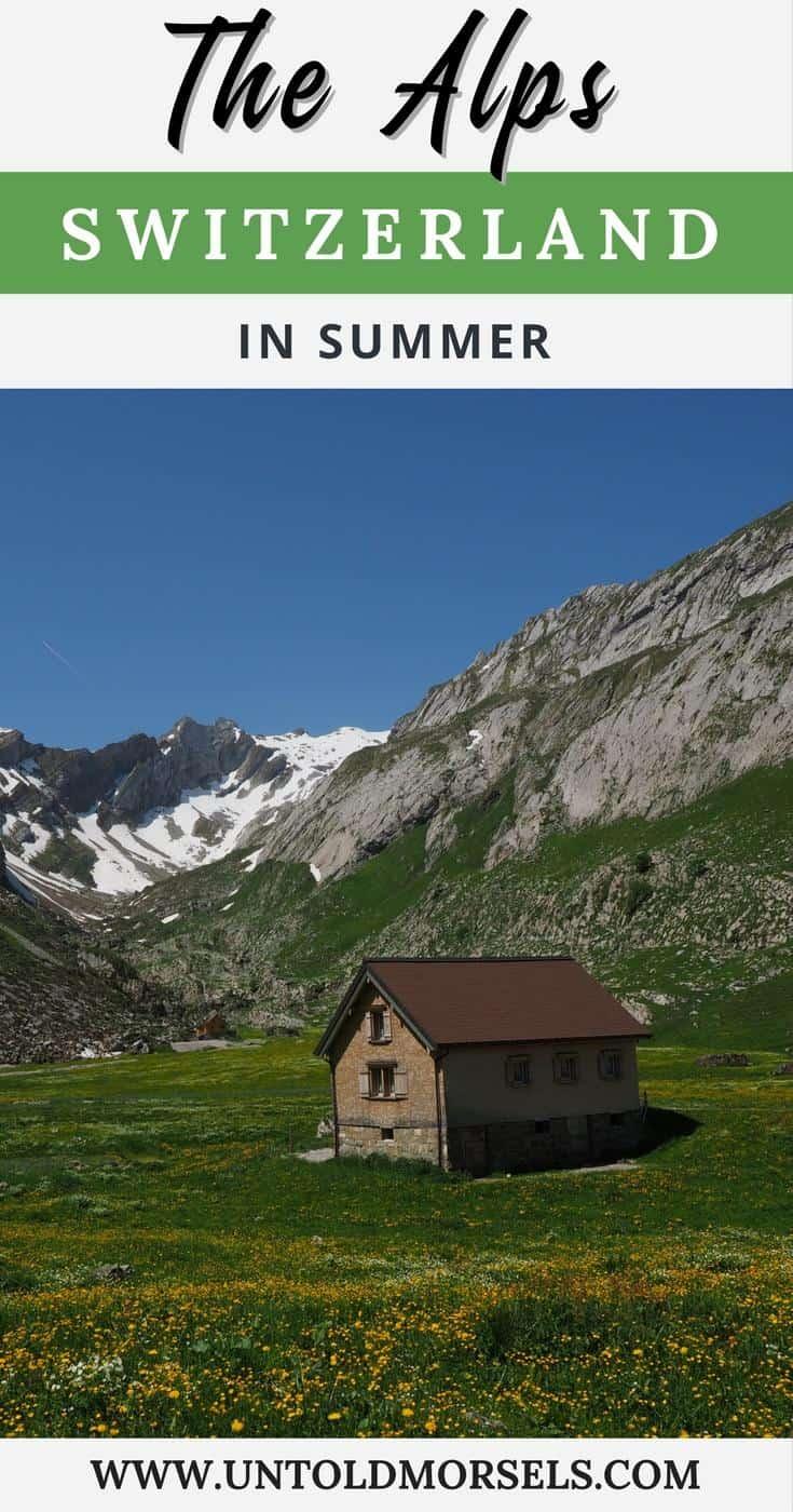 Swiss Alps - summer activities in the Swiss Alps | Switzerland | mountain activities | hiking | chalet