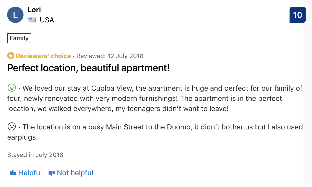 vacation rental review