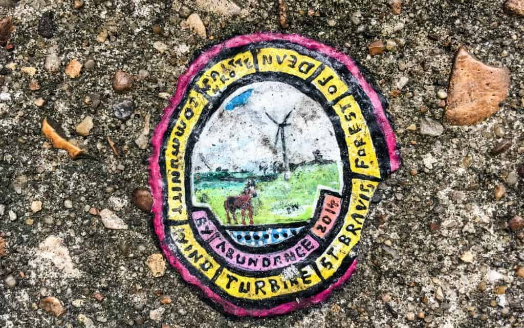 Ben Wilson chewing gum art in East London