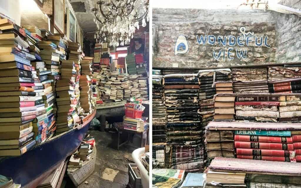 Libreria Aqua Alta Bookshop Venice