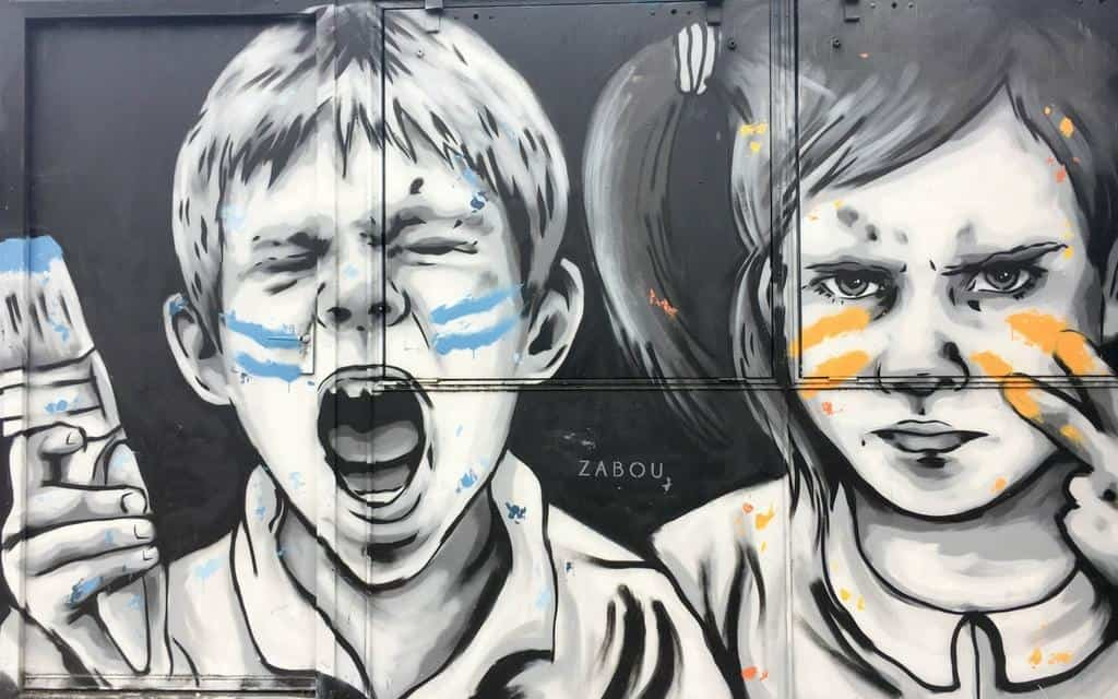 Street art in London by French artist Zabou