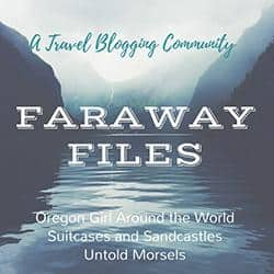 Faraway Files Oregon Girl Around the World badge