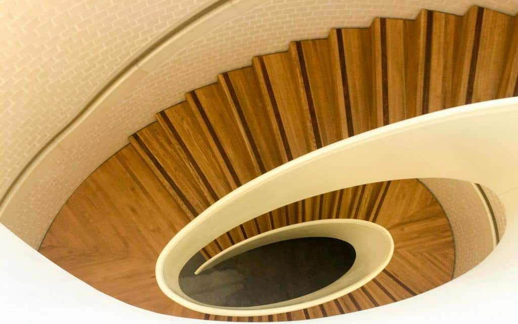 internal staircase at newport street gallery - best contemporary art galleries london