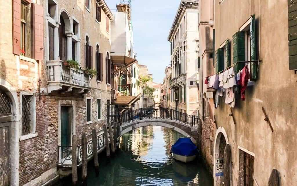 Quiet venice canal scene