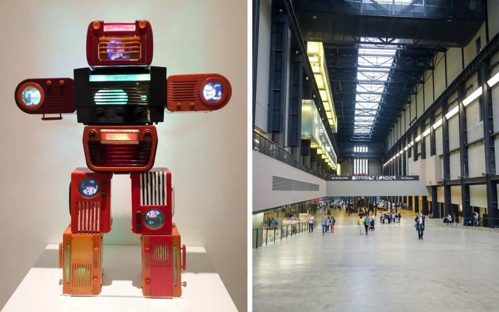 modern art and turbine hall at the Tate Modern - london art galleries