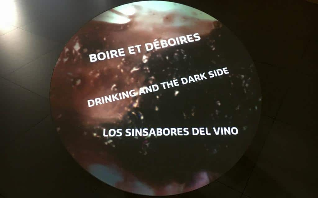 Bordeaux wine museum - dark side of drinking