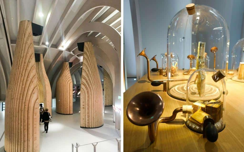 Creative design elements at Bordeaux wine museum - La Cité du Vin