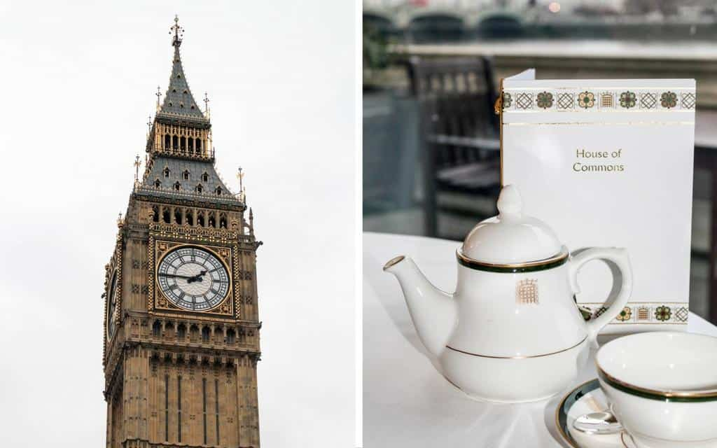 houses of parliament afternoon tea and tour - a must do in London