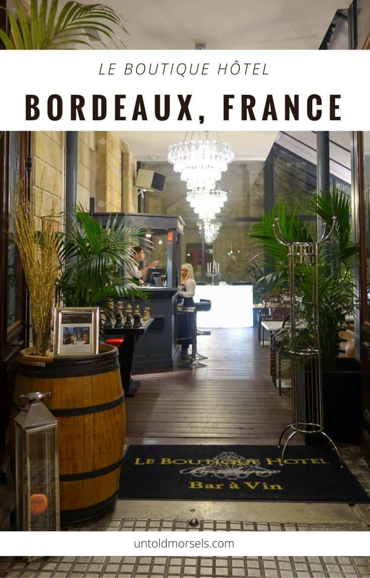 Bordeaux | France - review of Le Boutique Hotel a luxury hotel in Bordeaux