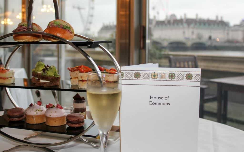 London afternoon tea with a view