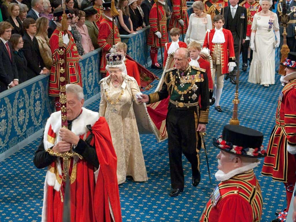 Queen Elizabeth II at State Opening of Parliament 2010