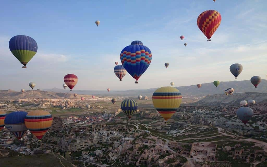 balloons over cappadocia with a local tour guide
