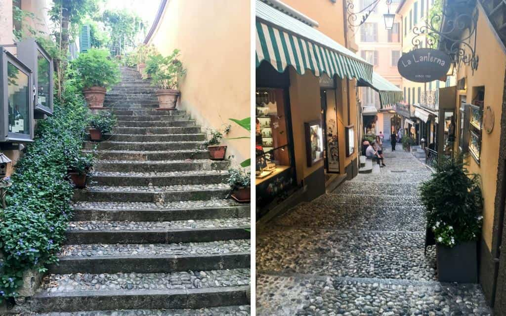 Cobbled streets of Bellagio Lake Como