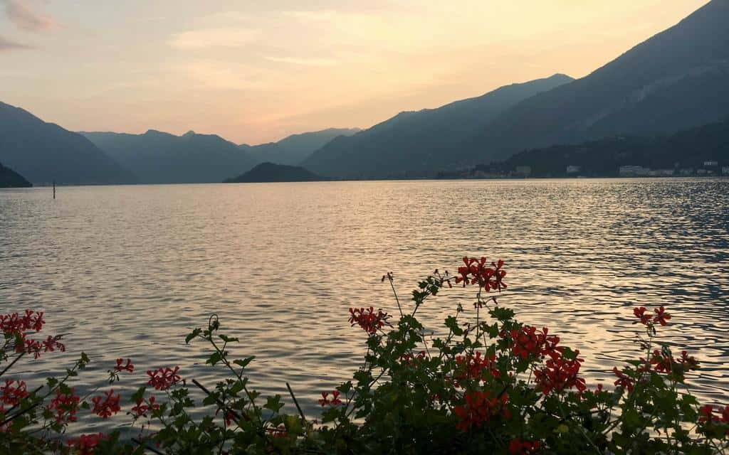 Lake Como sunset from Bellagio