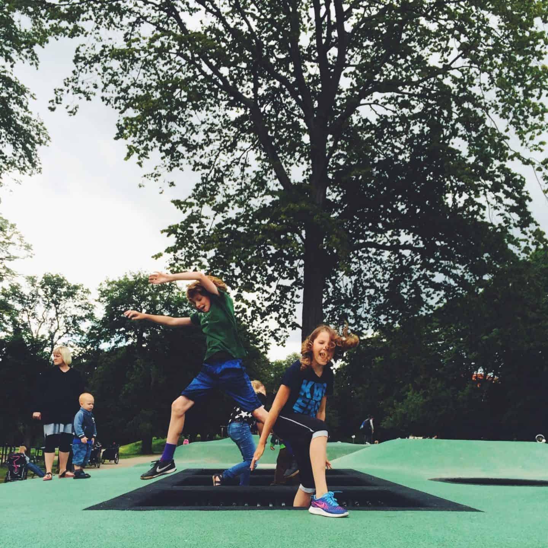 Fælledparken Copenhagen København Trampolines Kids Park