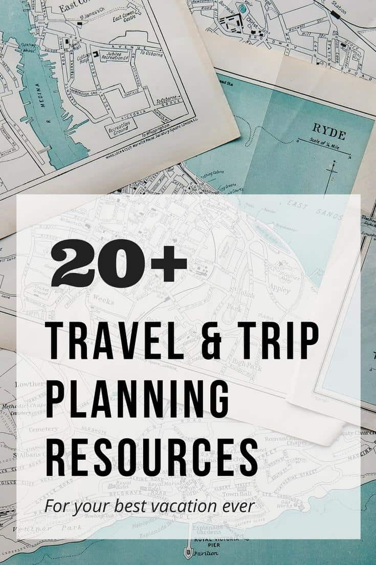 Travel and trip planning resources