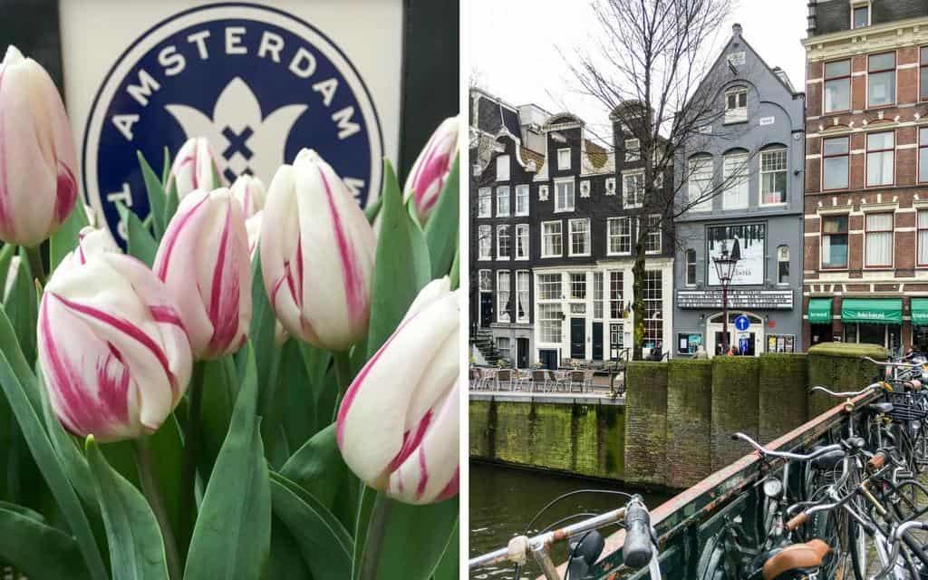 springtime scenes in Amsterdam