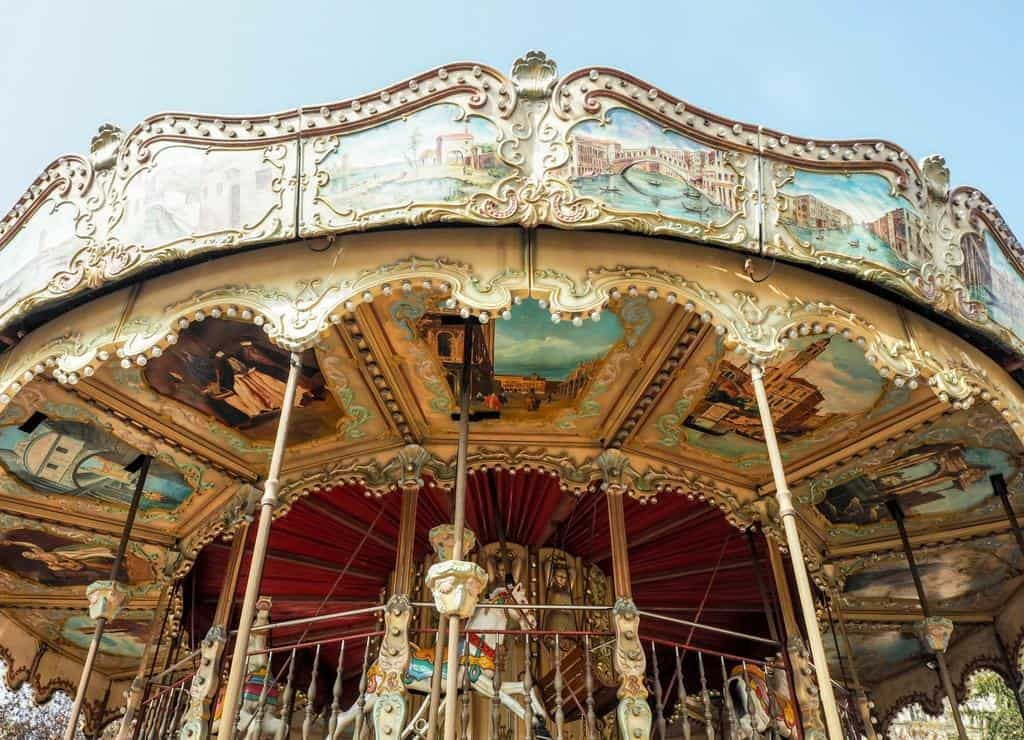 Paris carousel - places to visit in Paris with kids