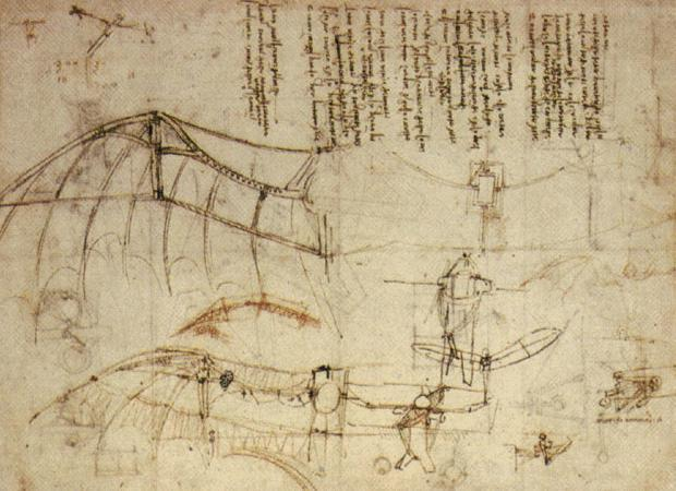 Design for a flying machine - Leonardo da Vinci