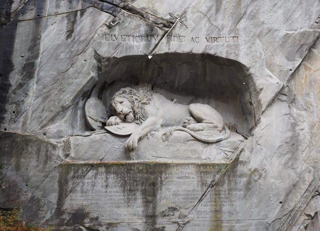 Lowendenkmal - Lion Monument Lucerne