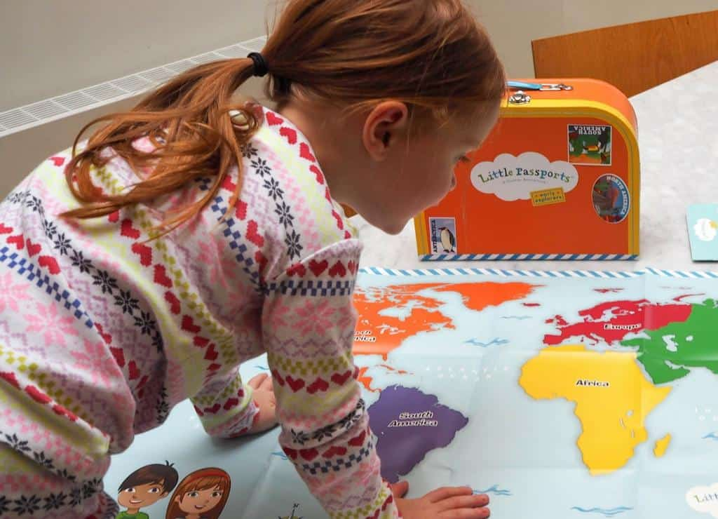 Little explorers subscription - Passports map