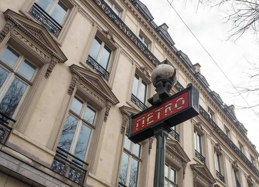 Metro station sign in Paris - what to do in paris with kids
