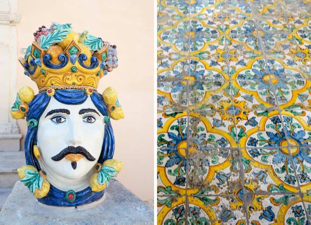 Colourful Sicilian ceramics