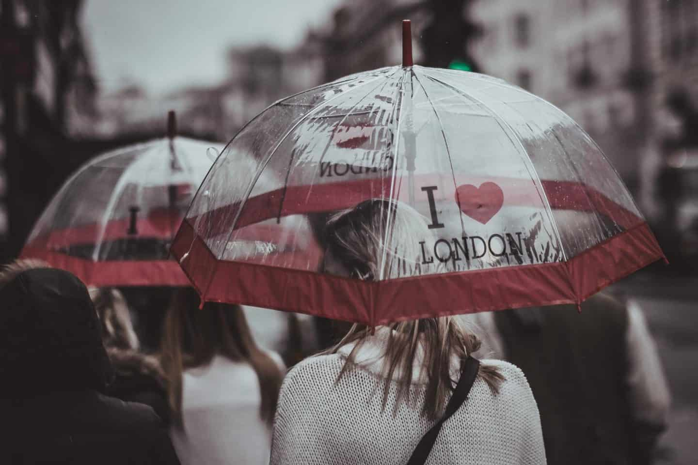 london weather umbrellas
