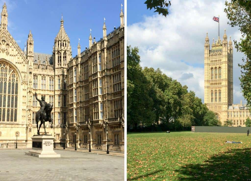 palace of Westminster - what to do in London for 3 days