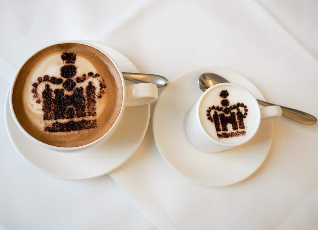 Royal capuccino at Orangery Kensington Palace
