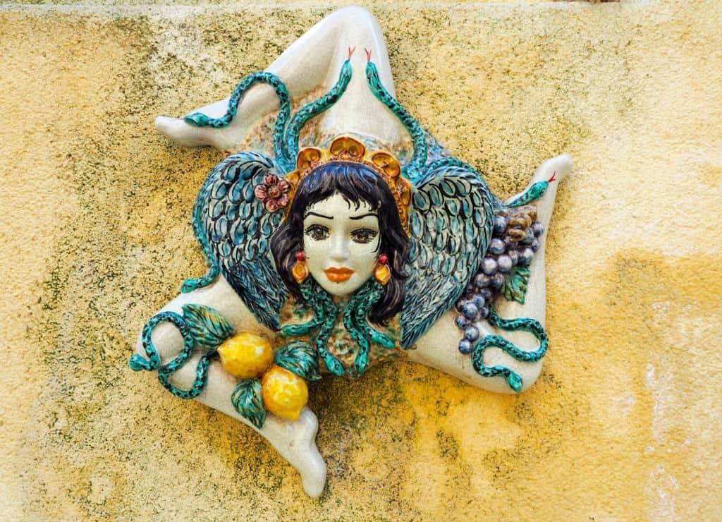 Sicily ceramic symbol