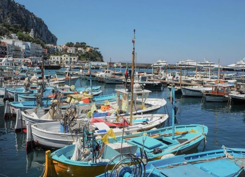 Marina Grande Capri - tours of Capri leave from here
