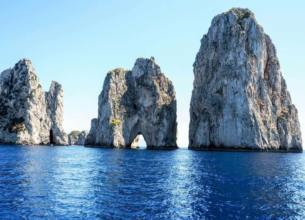 Faraglioni seen on day trip to Capri tour