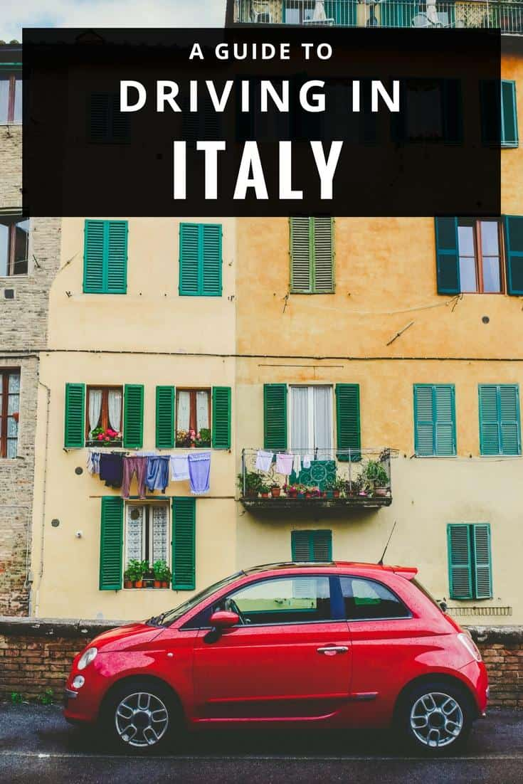 Driving in Italy: tips for an Italian road trip - car rental, road rules,