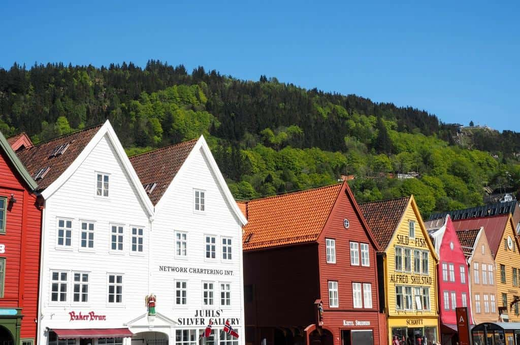 Bryggen Bergen Norway colourful buildings