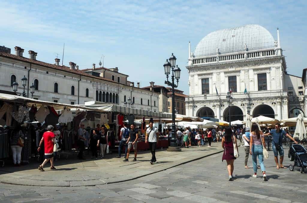 Market at Piazza Loggia Brescia
