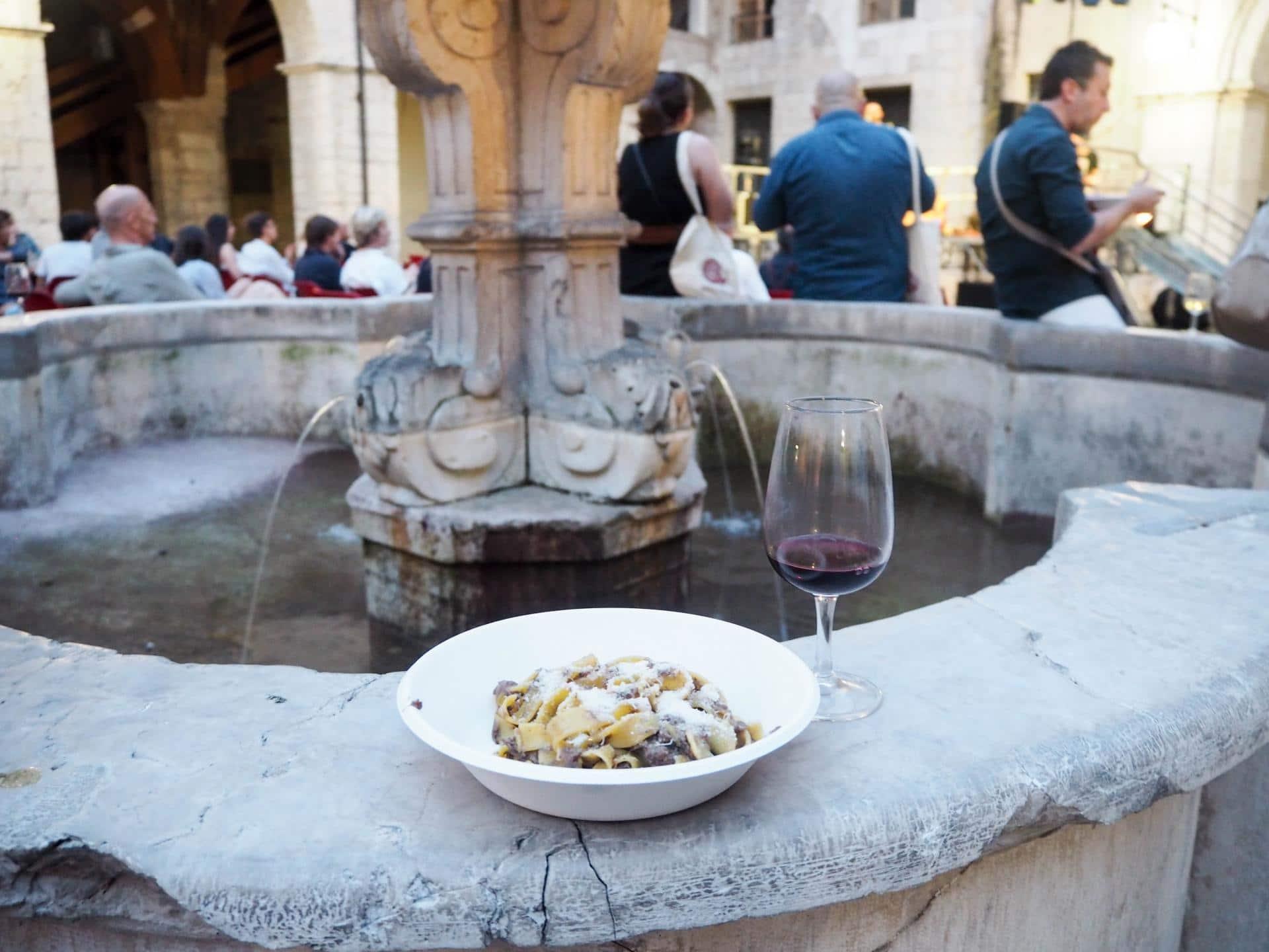 Pasta and wine at Brescia con Gusto
